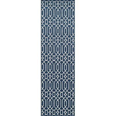 Halliday Blue Indoor/Outdoor Area Rug Rug Size: Rectangle 18 x 37