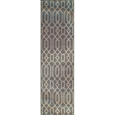 Halliday Traditional Gray Area Rug Rug Size: Runner 23 x 76