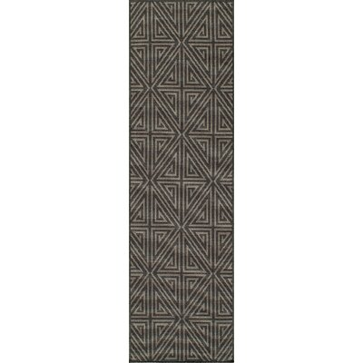 Halliday Charcoal Area Rug Rug Size: 23 x 46