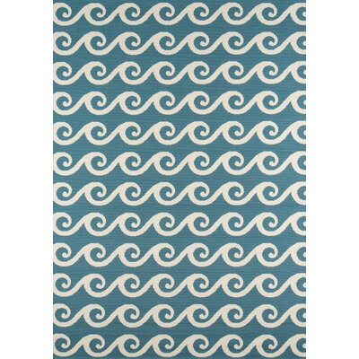 Halliday Blue Geometric Indoor/Outdoor Area Rug Rug Size: Rectangle 53 x 76
