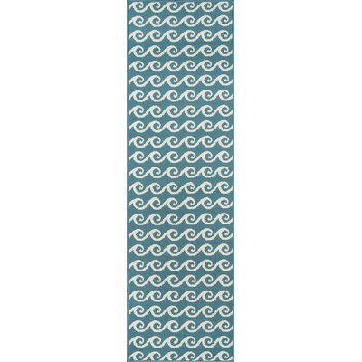 Halliday Blue Geometric Indoor/Outdoor Area Rug Rug Size: Runner 23 x 76