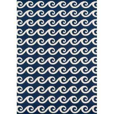 Halliday Navy Indoor/Outdoor Area Rug Rug Size: Rectangle 6'7