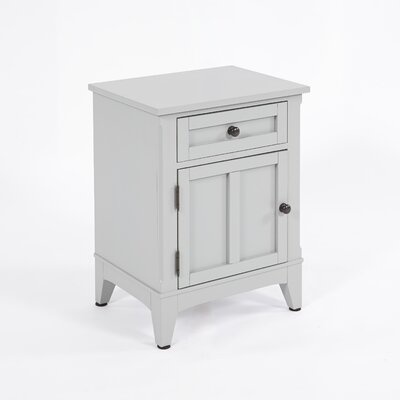 Lockhart 1 Drawer Nightstand Finish: Gray