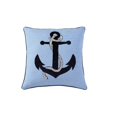 Jacksonville Anchor Embroidered Decorative Throw Pillow