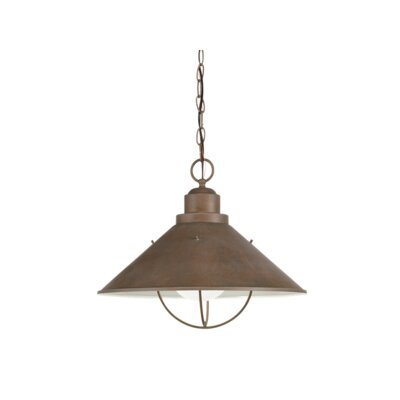 Castro 1-Light Pendant Finish: Olde Brick