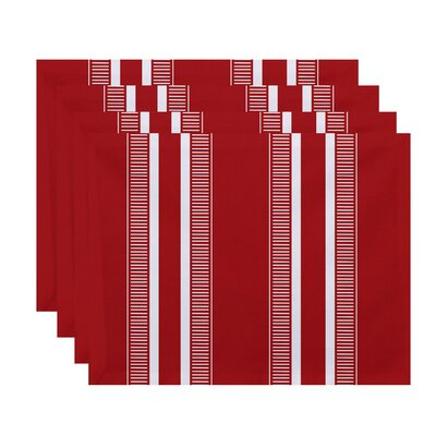 Lindale Dashing Stripe Placemat Color: Red