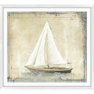 'Map Boats' Framed Graphic Art