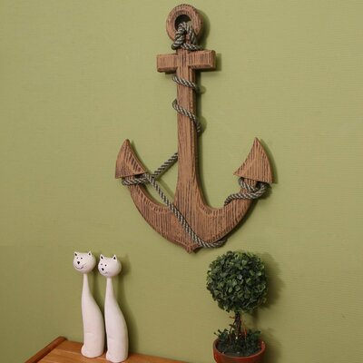 Maritime Nautical Wood Anchor Wall Decor