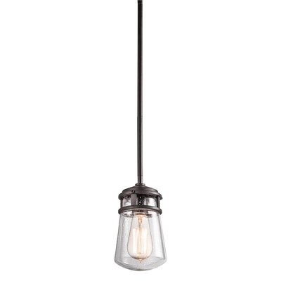 Anguila 1-Light Mini Pendant Size: 9.5 H x 5 W x 5 D, Finish: Architectural Bronze