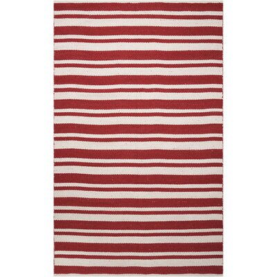 Stoughton Hand-Woven Red Area Rug Rug Size: Rectangle 5 x 76