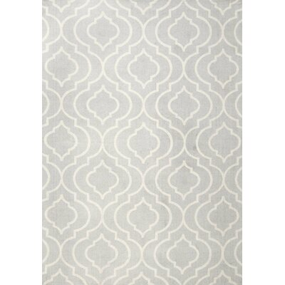 Justine Light Gray Area Rug Rug Size: Rectangle 4 x 6