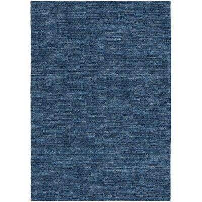 Bayside Indigo Hand-Woven Blue Area Rug Rug Size: 96 x 136