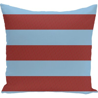 Caymen Outdoor Throw Pillow Color: Cardinal, Size: 18 H x 18 W x 1 D