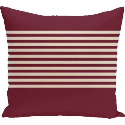 Breakwater Bay Marlowe Half Stripe Throw Pillow