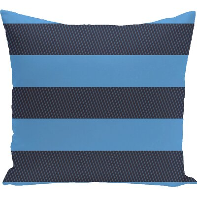 Caymen Outdoor Throw Pillow Color: Azure, Size: 18 H x 18 W x 1 D