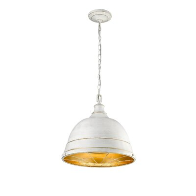 Elinna 2-Light Inverted Pendant Color: French White