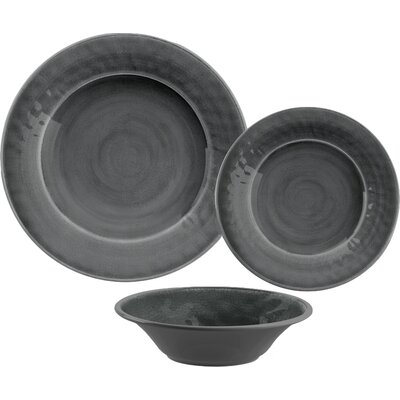 Simonton Melamine 12 Piece Dinnerware Set Color: Gray