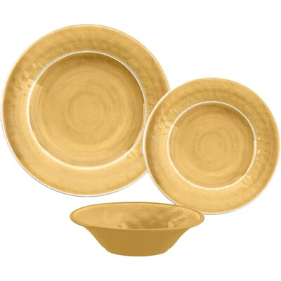 Simonton Melamine 12 Piece Dinnerware Set Color: Gold