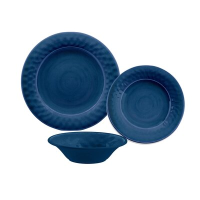 Simonton Melamine 12 Piece Dinnerware Set Color: Indigo