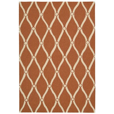 Merganser Hand-Tufted Orange/Beige Indoor/Outdoor Area Rug Rug Size: 2 x 3