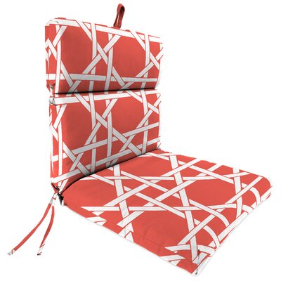 Outdoor Adirondack Chair Cushion Fabric: Kane Coral
