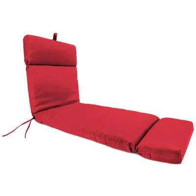 Outdoor Red Sunbrella Chaise Lounge Cushion