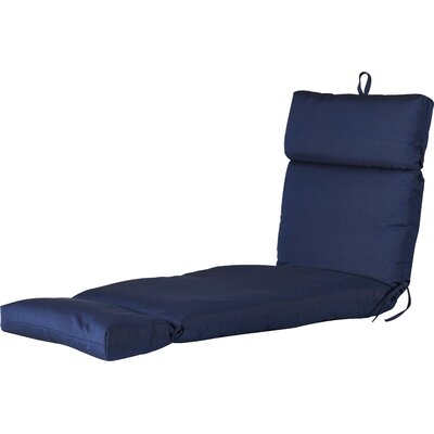 Outdoor Polyester Sunbrella Chaise Lounge Cushion Fabric: Echo Midnight