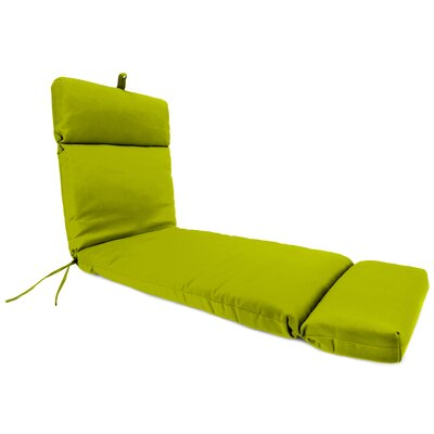 Outdoor Polyester Sunbrella Chaise Lounge Cushion Fabric: Echo Limelight