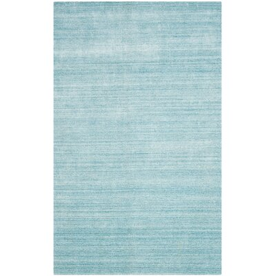 Breakwater Bay Kennebec Hand-Woven Sky Area Rug