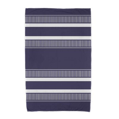 Dashing Stripe Beach Towel Color: Navy Blue