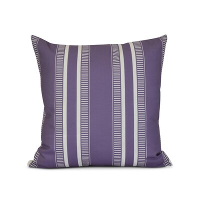 Mundell Outdoor Throw Pillow Size: 20 H x 20 W x 3 D, Color: Purple