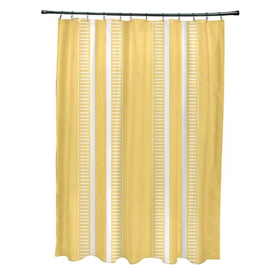 Mundell Dashing Stripe Shower Curtain Color: Yellow