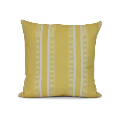 Mundell Outdoor Throw Pillow Size: 16 H x 16 W x 3 D, Color: Yellow