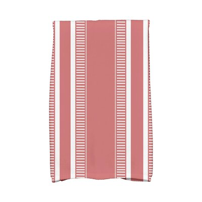 Ridgemoor Dashing Stripe Hand Towel Color: Orange