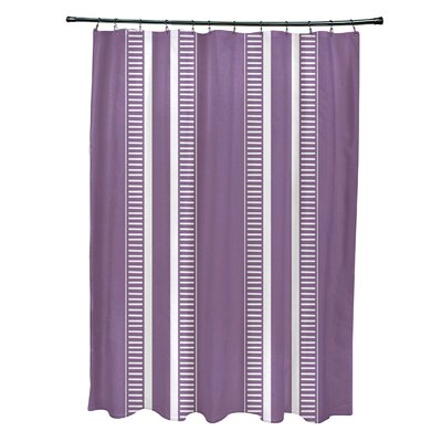 Lindale Dashing Stripe Shower Curtain Color: Purple