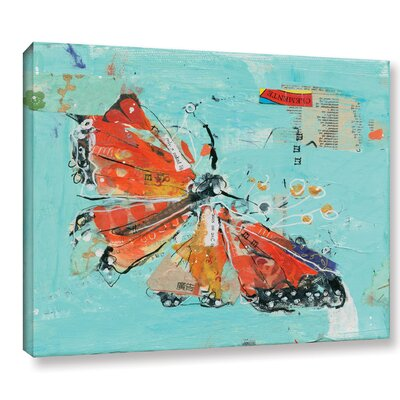 Monarch I Crop Graphic Art on Wrapped Canvas