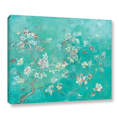 Butter Blossoms Flowers Graphic Art on Wrapped Canvas