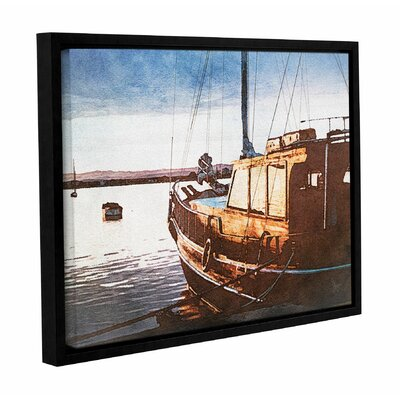 Bulwark Harbor Framed Graphic Art on Wrapped Canvas Size: 14