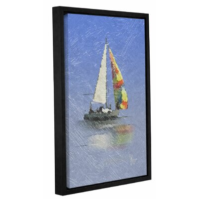 Wild Blue Yonder Framed Graphic Art on Wrapped Canvas Size: 12