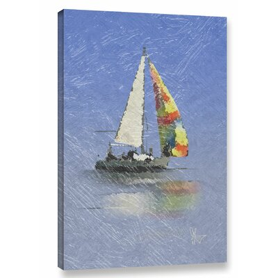 Wild Blue Yonder Graphic Art on Wrapped Canvas Size: 12
