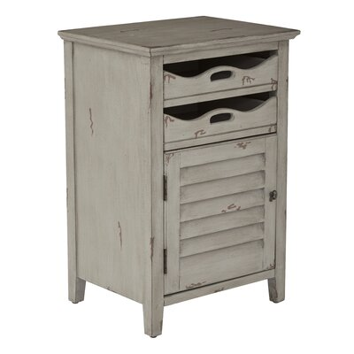 Riviera End Table Color: Antique Gray