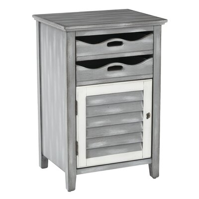 Capri End Table Finish: Antique Titanium Grey with Oatmeal Accents