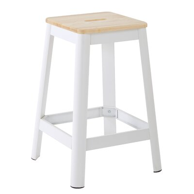 Achilles 25.75 Bar Stool Base Finish: White