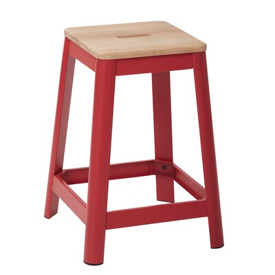 Achilles 25.75 Bar Stool Base Finish: Red