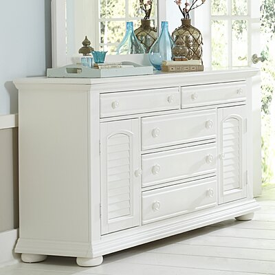 Landenberg 5 Drawer Combo Dresser with Mirror