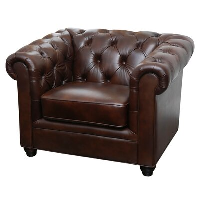 Galveston Premium Italian Leather Chesterfield Chair