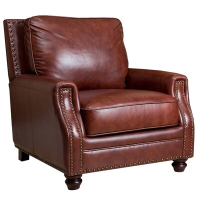 St. Lucia Hand Rubbed Leather Armchair