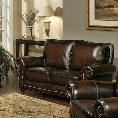 Reynolds Leather Loveseat
