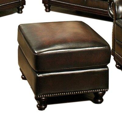 Crane Leather Ottoman