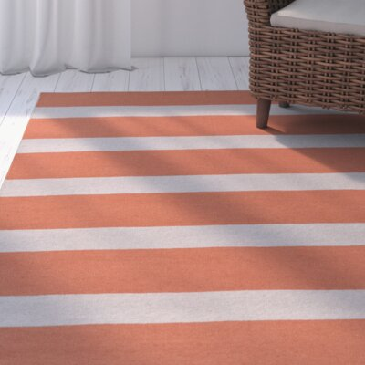Peugeot Rust/Light Gray Indoor/Outdoor Area Rug Rug Size: 8 x 11
